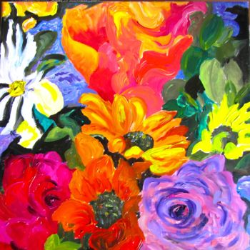 """Painting titled """"tropical-colors.jpg"""" by Bobbie O'Toole, Original Art, Acrylic"""