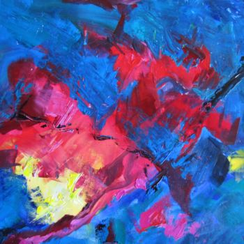 """Painting titled """"Crabs in Space"""" by Bobbie O'Toole, Original Art, Acrylic"""