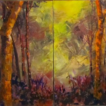 """Painting titled """"black-bird-forest-3…"""" by Bobbie O'Toole, Original Art, Acrylic"""