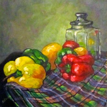 """Painting titled """"Sweet Peppers"""" by Bobbie O'Toole, Original Art, Acrylic"""