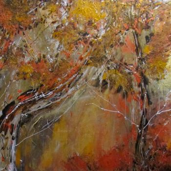 """Painting titled """"Late Fall"""" by Bobbie O'Toole, Original Art, Acrylic Mounted on Stretcher frame"""