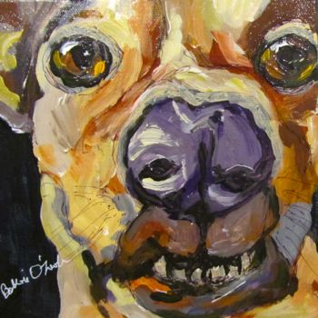 """Painting titled """"Dogs don't smile do…"""" by Bobbie O'Toole, Original Art, Acrylic"""