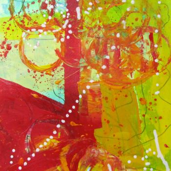 """Painting titled """"String of Lights le…"""" by Bobbie O'Toole, Original Art, Acrylic"""