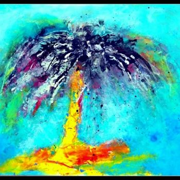 """Painting titled """"Tropical palmier"""" by Mysane, Original Art, Other"""
