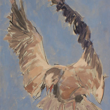"""Painting titled """"mouette 2"""" by Hassan Najim, Original Art, Acrylic"""