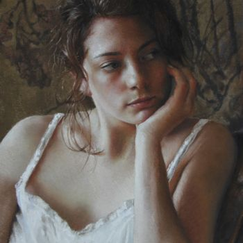 Women Drawing, pastel, figurative, artwork by Nathalie Picoulet