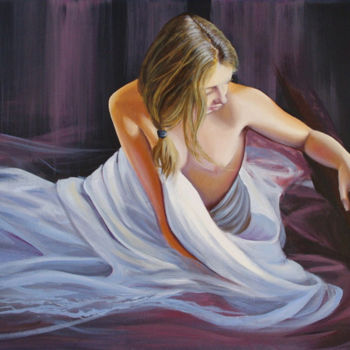 Painting, oil, artwork by Nathalie Armand