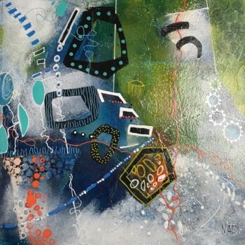 """Painting titled """"It's all right"""" by Nadine Falguieres (NADI), Original Art, Acrylic Mounted on Cardboard"""