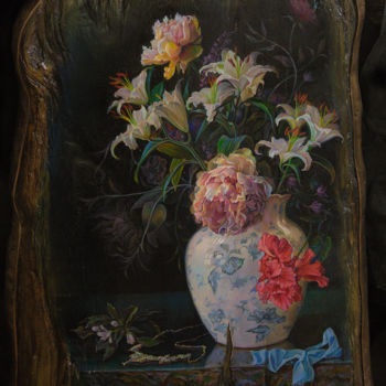 """Painting titled """"Still life with nec…"""" by Sergey Lesnikov, Original Art, Oil"""