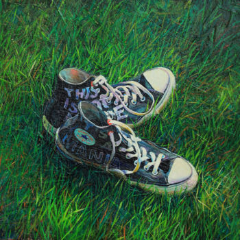 """Painting titled """"Converse"""" by Sergey Lesnikov, Original Art, Oil"""