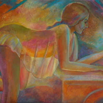 Erotic Painting, oil, expressionism, artwork by Sergey Lesnikov