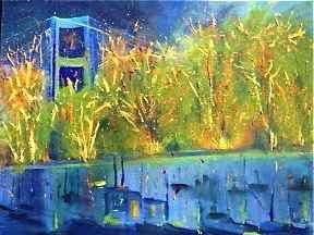 Monument Painting, oil, abstract, artwork by Noreen Schumann