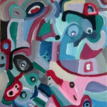 Painting, oil, fauvism, artwork by Olivier Dumont