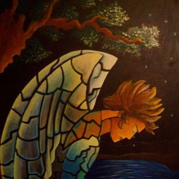 """Painting titled """"alone_in_thought.jpg"""" by Oscar Galvan, Original Art, Oil"""