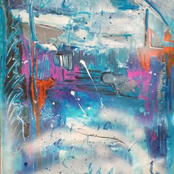 Color Painting, acrylic, abstract, artwork by Pascale Perrillat