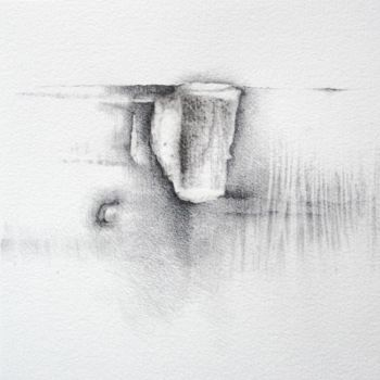 Drawing, graphite, abstract, artwork by Pascale Aurignac