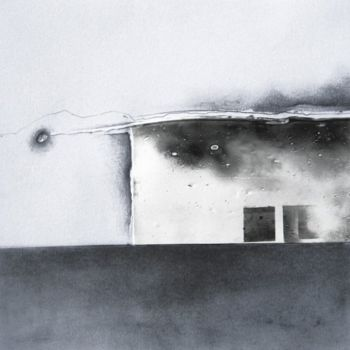 Drawing, graphite, artwork by Pascale Aurignac