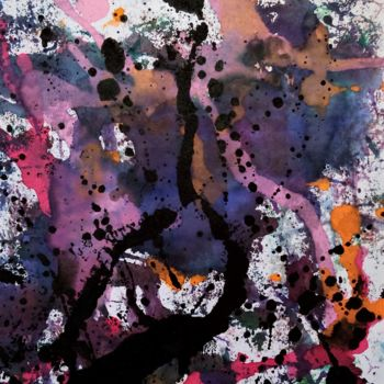 Painting, watercolor, abstract, artwork by Dominique Jolivet