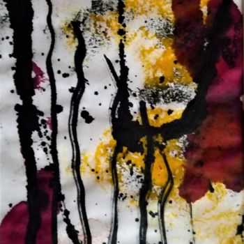 Painting, ink, abstract, artwork by Dominique Jolivet