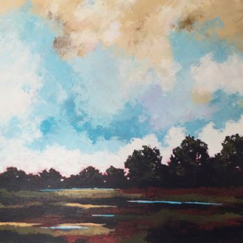 """Painting titled """"Summer Warmth 24x24…"""" by Pam Carlson, Original Art, Acrylic"""
