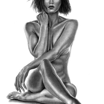 Drawing, graphite, figurative, artwork by Paul Stowe