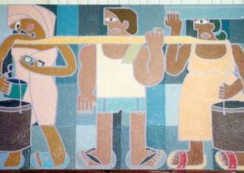 """Painting titled """"""""The Water-bearers"""" by Paul Arenas, Original Art,"""