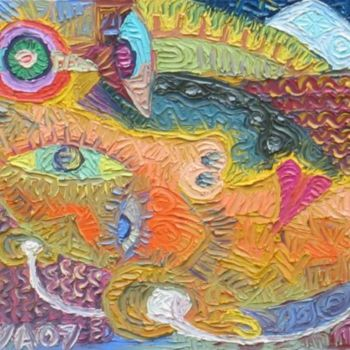 """Painting titled """"Eye Pod"""" by Paul Arenas, Original Art,"""