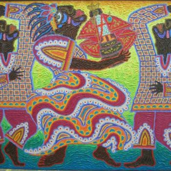 """Painting titled """"""""The Dance"""""""" by Paul Arenas, Original Art,"""