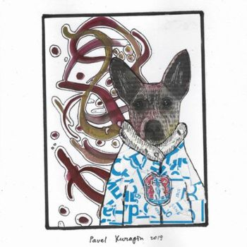 """Collages titled """"Aristocratic dog #22"""" by Pavel Kuragin, Original Art, Collages"""