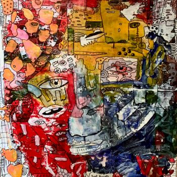 """Painting titled """"Side effects 6"""" by Pavel Kuragin, Original Art, Acrylic"""