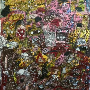 """Painting titled """"Side effects 7"""" by Pavel Kuragin, Original Art, Acrylic"""