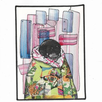 """Collages titled """"Aristocratic dog #21"""" by Pavel Kuragin, Original Art, Collages"""