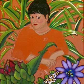 """Painting titled """"In My Garden - Work…"""" by Drapala Gallery, Original Art,"""
