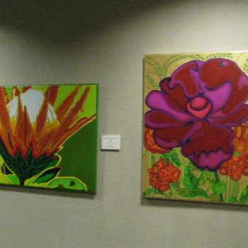 """Painting titled """"""""Protea"""" and """"Poppy…"""" by Drapala Gallery, Original Art,"""