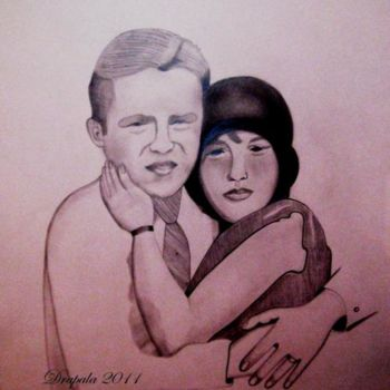 """Drawing titled """"James Higuera and R…"""" by Drapala Gallery, Original Art,"""