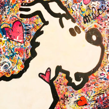 Painting, pop art, artwork by Patricia Ducept