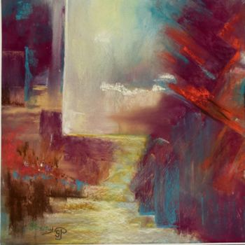 Painting, pastel, abstract, artwork by Penny Gp