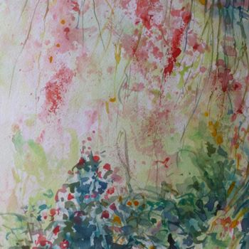 Painting, watercolor, expressionism, artwork by Pierre Feyeux