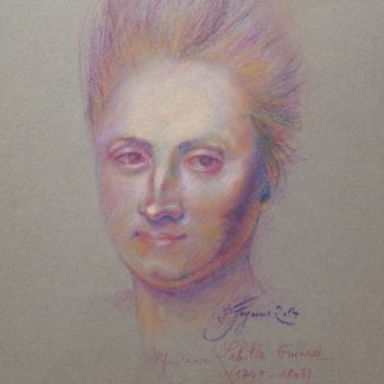 Drawing, pastel, artwork by Pierre Feyeux