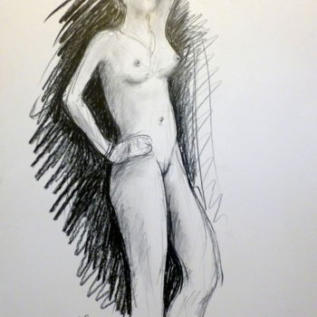 Drawing, graphite, artwork by Pierre Feyeux