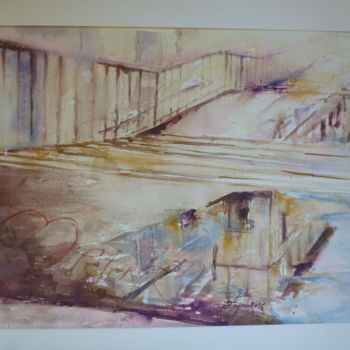 Painting, watercolor, artwork by Pierre Feyeux