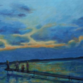 """Painting titled """"The days last catch"""" by Piotr, Original Art,"""