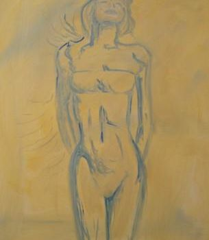 """Painting titled """"standing figure"""" by Piotr, Original Art,"""