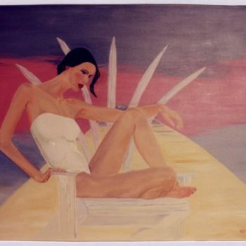 """Painting titled """"Reclining figure #2"""" by Piotr, Original Art,"""