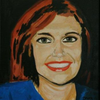 """Painting titled """"Portrait of Magdale…"""" by Piotr, Original Art,"""