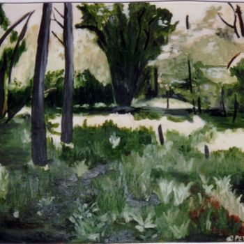 """Painting titled """"Forest Scene"""" by Piotr, Original Art,"""