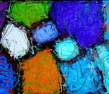 Painting, oil, abstract, artwork by Jacqueline Pizano