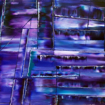 """Painting titled """"""""Variations In Purp…"""" by Preston M. Smith (PMS), Original Art, Oil"""