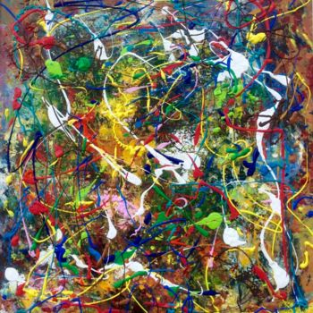 Painting, acrylic, abstract, artwork by Primo Canepari