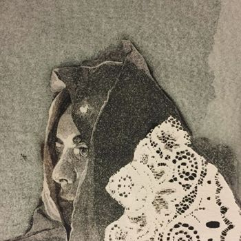 Printmaking, collagraphy, expressionism, artwork by Rahma Neili